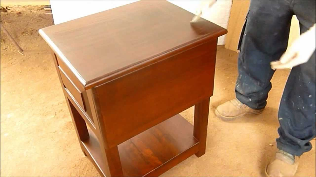 Como Pintar Mueble De Madera O Laqueo Paso A Paso - YouTube