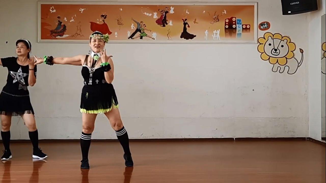 春花望露水舞蹈(倫巴)主唱:張秀卿(編舞:陳美君老師)蔡碧娥老師與學員(正面示範)現教現錄版 - YouTube