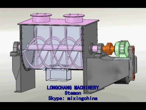 Video Of Horizontal Ribbon Mixer/Blender Machine
