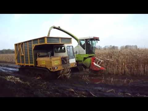 Tractor Stuck in Mud Hay Bale Handling Agriculture Equipment Mega Machines Tank Reaper Harvester