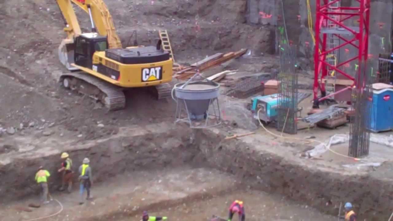 Pouring Concrete Cement Truck Crane Construction