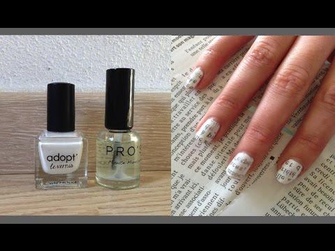 Tuto Nail Art Ongles Papier Journal Débutant Facile Céline