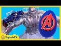 Giant Superhero Play-Doh Surprise Egg Toy Opening & Hotwheels Avengers Tower Takeover Playset