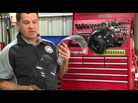 How to change a visor on motorcycle helmet