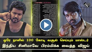 Master Box Office  Reach First Day 100 Cr – Shocking Indian Cinema | Vijay King of Collection