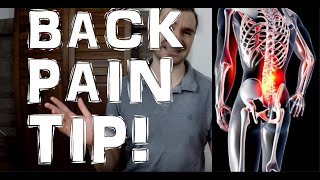 A Major Cause of Lower Back Pain & My Best Tip