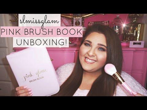 SLMISSGLAM PINK GLAM BRUSH BOOK UNBOXING & STORYTIME