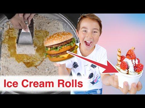 🍧EIS aus BURGER 🍔 von Mc Donalds. DIY Ice Cream Rolls!! Johann Loop