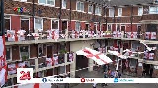 Treo cờ cổ vũ đội tuyển, chuyện thường ở Việt Nam nhưng lại là chuyện lạ ở Anh  - Tin Tức VTV24