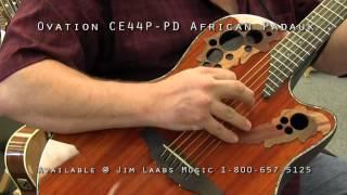 ovation ce44p pd padauk acoustic guitar demo video