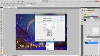 How to change canvas size in Adobe Photoshop