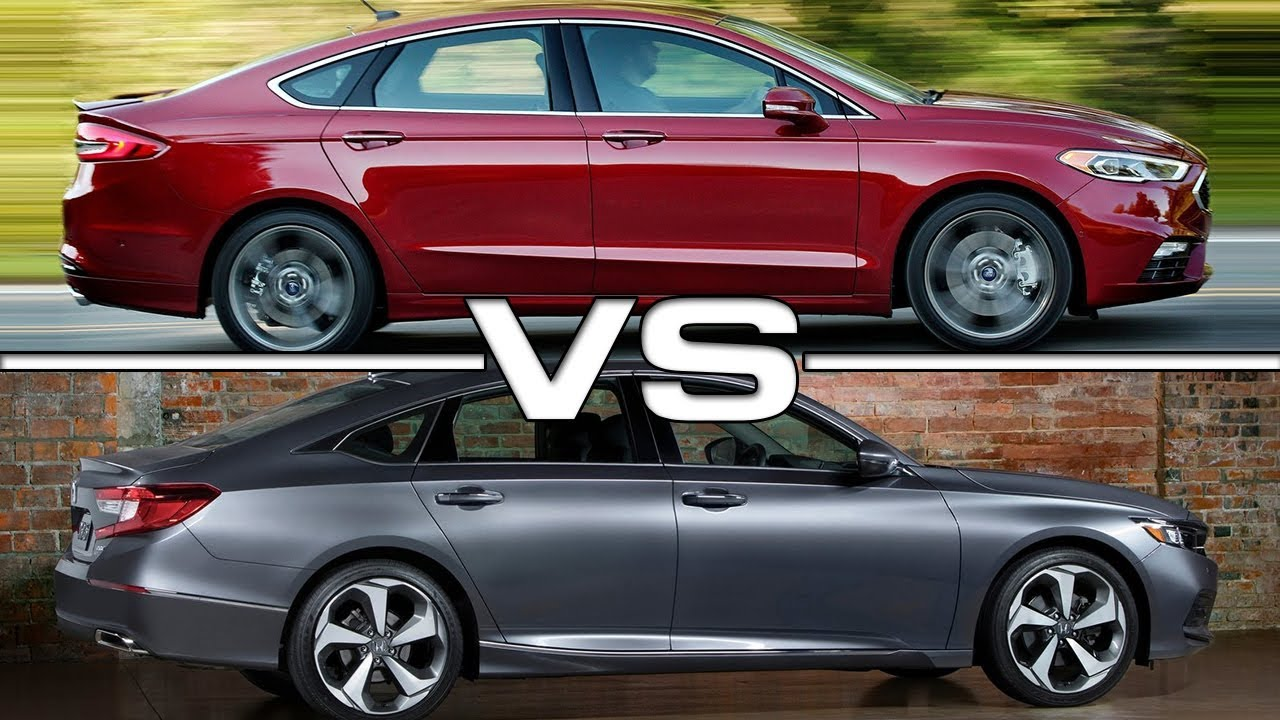 2017 ford fusion vs 2018 honda accord youtube