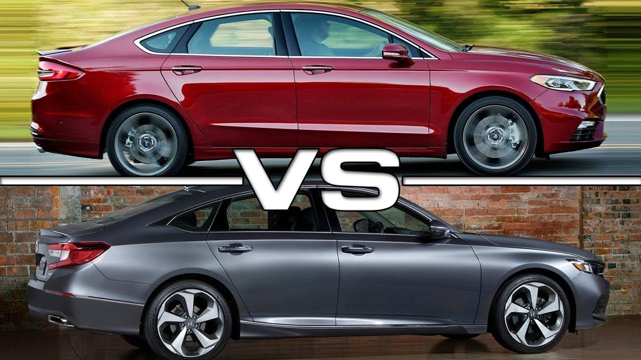 Honda Accord Vs Ford Fusion >> 2017 Ford Fusion vs 2018 Honda Accord - YouTube