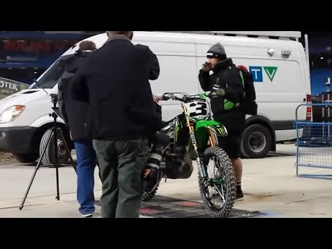 Behind the Scenes: Supercross sound testing 2017 Ryan Dungey, Eli Tomac, Marvin Musquin