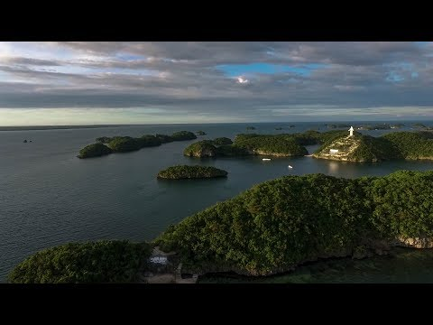 Hundred Islands Drone Video 🚁   Pangasinan Philippines 🌴🌞