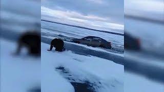 Первый лед! Провалились под лед. Аксаровское водохранилище.