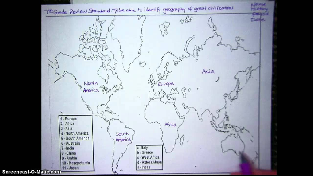 Ancient world map 7th grade youtube ancient world map 7th grade gumiabroncs Choice Image