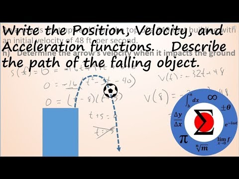 Calculus - Describing the Vertical Motion of a Free Falling Object