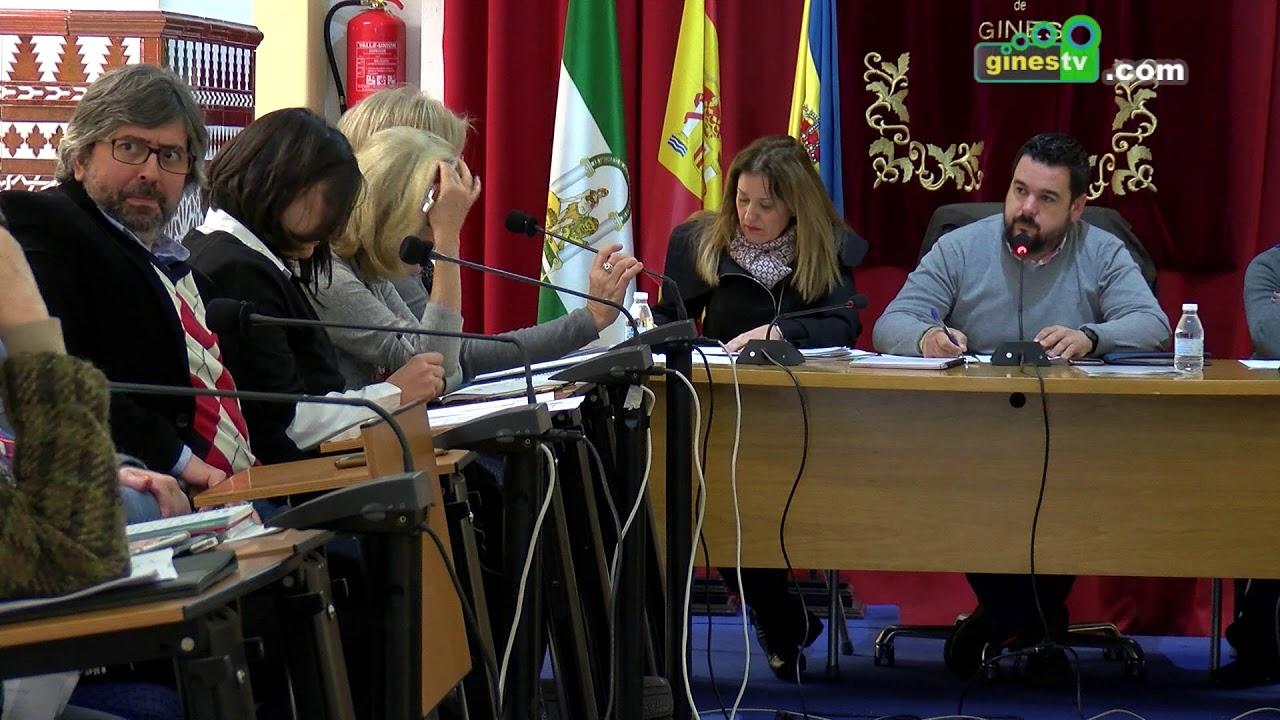 Pleno Ordinario del Ayuntamiento de Gines. 31 enero 2018