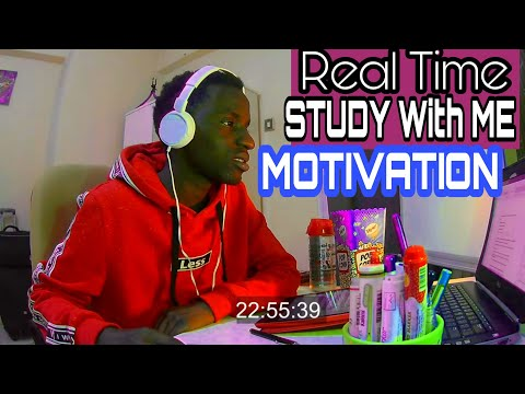 REAL TIME Study With Me  (no Music): 1 HOUR Productive Pomodoro Session (background Noise)