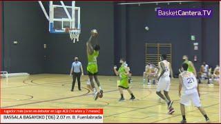 BASSALA BAGAYOKO (2006) 2.07 m. B. Fuenlabrada. El jugador más joven en debutar en la Liga ACB.
