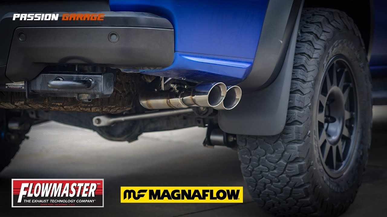 ford ranger raptor 2 0 ecoblue with magnaflow 10416 and flowmaster exhaust tip dual test