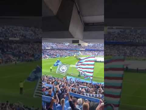 Manchester City Fans Singing Bluemoon Vs Tottenham At Home