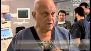 احدى اللقاءات لمجدي يعقوب من داخل مركز القلب بأسوان