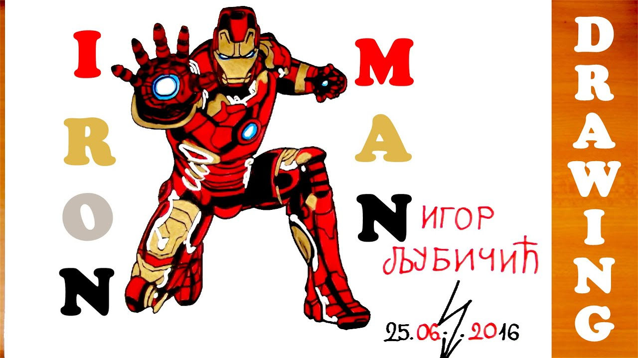 how to draw iron man full body easy for kids from avengers superheroes and color mrusegoodart