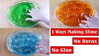 DIY 3 Ways T๐ Make Clear Slime NO GLUE AND NO BORAX ( Dish Soap, Mouthwash, Floor Cleaner)