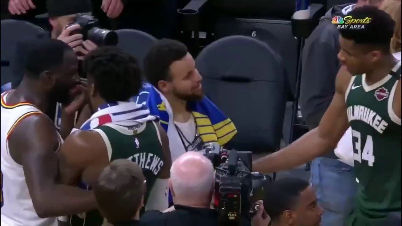 Warriors' Stephen Curry and Bucks' Giannis Antetokounmpo banter ...