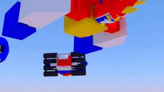Voltes V animation ( rendered and animated with Blender )
