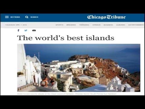 ΣΑΝΤΟΡΙΝΗ Η ΟΜΟΡΦΟΤΕΡΗ ΤΟΥ ΚΟΣΜΟΥ -US NEWS-CHICAGO TRIBUNE