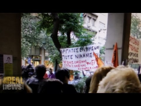 Cleaning Workers Victims of Police and Austerity in Greece