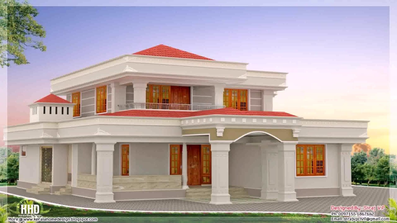 Low cost house design in india youtube for Indian homes front design