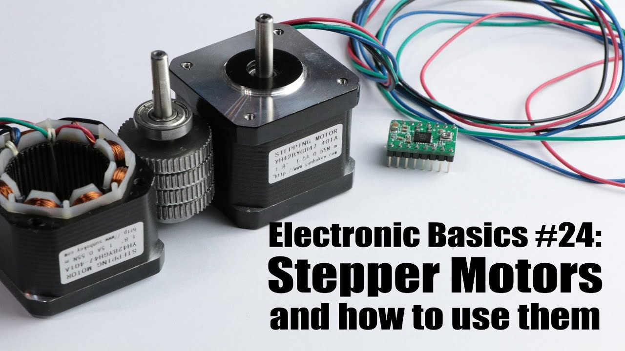 Electronic Basics 24 Stepper Motors And How To Use Them Youtube Motor Wiring