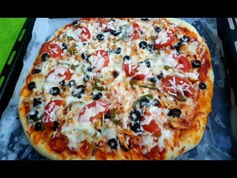 صورة  طريقة عمل البيتزا طريقة عمل بيتزا الدجاج والخضار طريقة عمل البيتزا من يوتيوب
