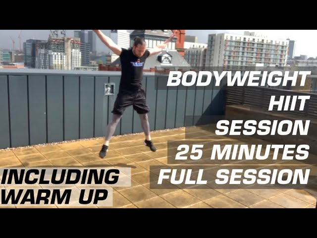 HIGH INTENSITY INTERVAL TRAINING | HIIT | Bodyweight Home Workout | 25 Minutes + Warm Up