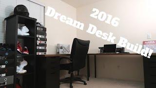 my ikea hack desk setup 2016