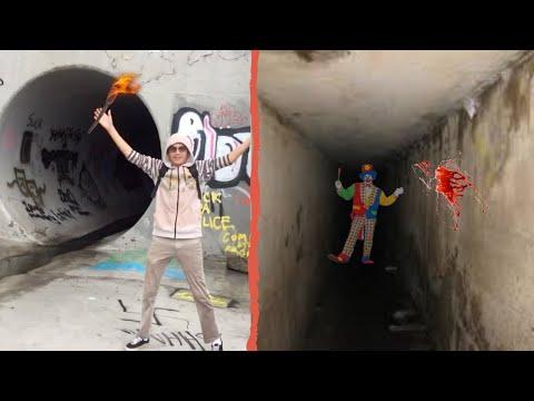 Exploring UnderGround Tunnel FLOODS (Vomit)