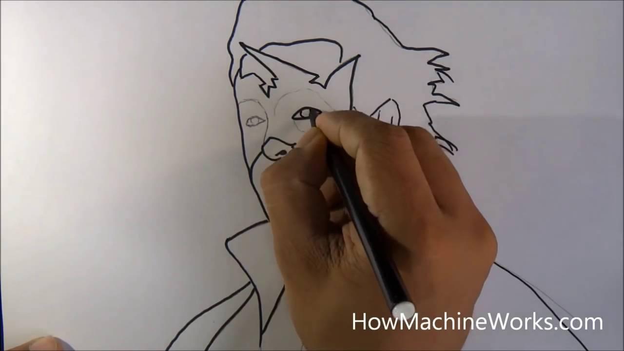 How to draw super hero krish hrithik roshan