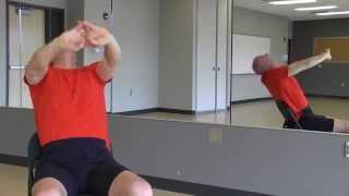 """#47 """"Yoga Minute"""" Chair, Back-bend"""