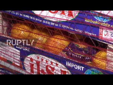 Russia: Turkish produce delivered to Crimea after 10-month ban on imports
