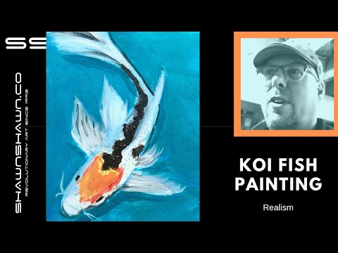 Koi Fish Painting Tutorial In Acrylic