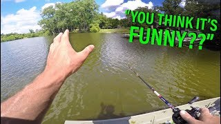 Angry Lady YELLS at Fisherman -- Summer Fishing