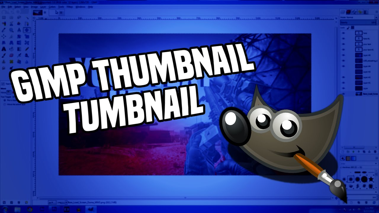 How to make cool thumbnails with free software Gimp Tutorial  YouTube