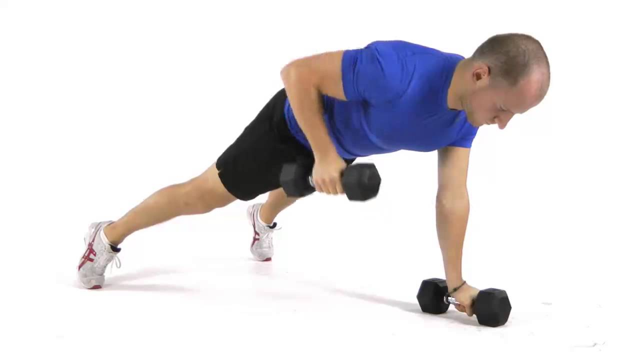 Dumbbell renegade row - YouTube