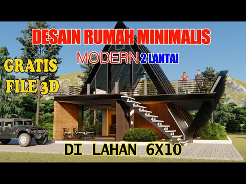 desain rumah minimalis modern 2 lantai - bentuk unik - youtube