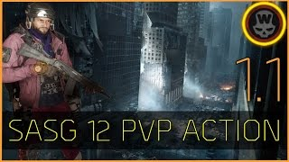 The Division - SASG-12 PVP Action [1.1 before sentry nerf]
