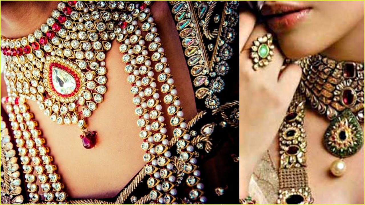 Indian Bridal Jewellery Sets with Price 2017 - YouTube